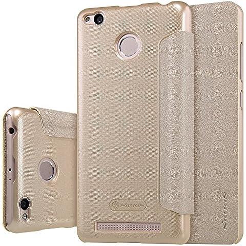 MYLB PU funda case cubierta cover para Xiaomi Redmi 3 Pro smartphone (Champagne Or)