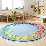 Mode Farbigen Kinder Runden Teppich Modernen Bereich Teppiche/Matte für Wohnzimmer Couchtisch...
