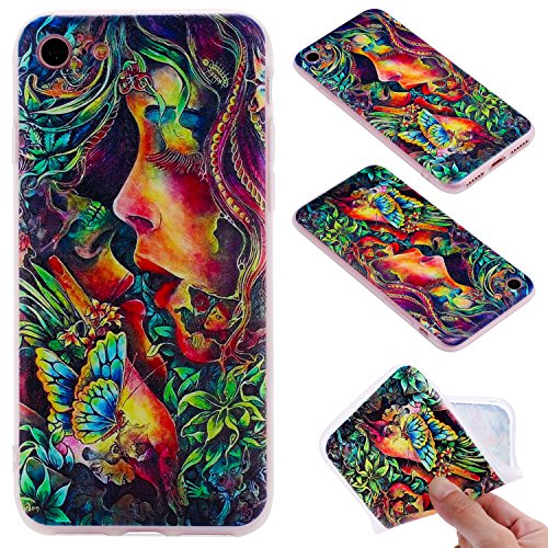 Cover iphone 7 / iphone 8 , iphone 7 / iphone 8 custodia , Cozy Hut iphone 7 / iphone 8 cover Morbido TPU Custodia [Ultra sottile] [Leggera] [Assorbimento-Urto] Paraurti in TPU Morbida Protettiva Case bacio