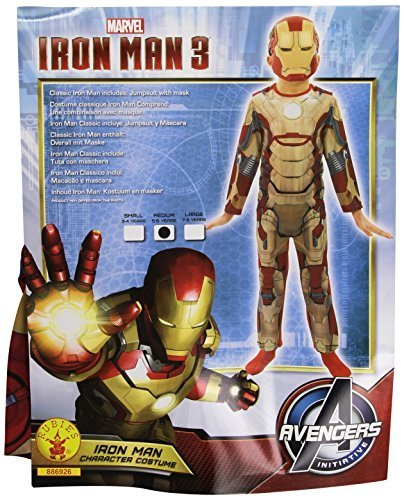 Iron Man 3 Classic - Kinder-KostŸm - Medium - (Iron Man Augen Kostüm)