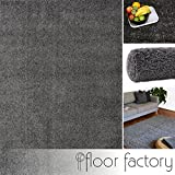 floor factory Hochflor Shaggy Teppich Colors Grau/Anthrazit 120x170cm - Pflegeleichter und günstiger Langflorteppich