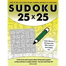 25x25 Sudoku: 100 sudoku puzzles complete with solutions