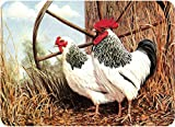 Tuftop 50cm x 40cm Glasschneidebrett, Hühner, Strukturierte Oberfläche -