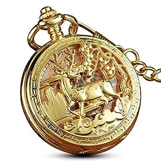 Herren-Deer-Skelett-mechanische-Taschenuhr-mit-2-Seiten-offen-Steampunk-Tasche-Fob-Uhren-Anhnger-fr-Herren