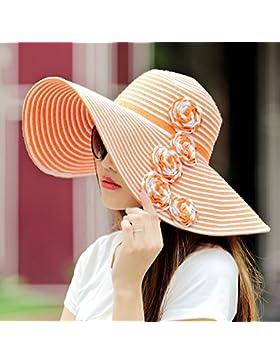 estate femminile cappello di Sun grandi gronda Anti-UV sunhat paglietta ( Colore : 3 )