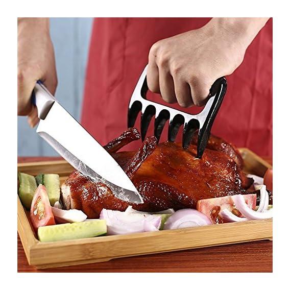 1 Paar Fleischgabel Kunststoff Fleischkrallen Bbq Brenkralle Brentatzen Meat Claws Fr Pulled Pork 12511cm Schwarz
