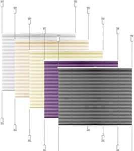 Plissé Klemmfix 80x130 sans percer store store 70x130 Opaque faltrollo plisee