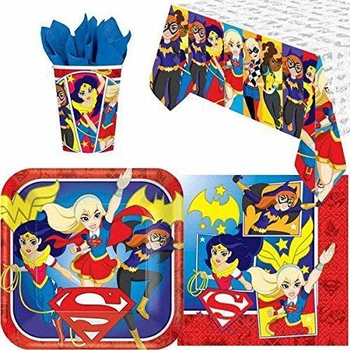 DC Superheld Mädchen Partygeschirr Pack für 8