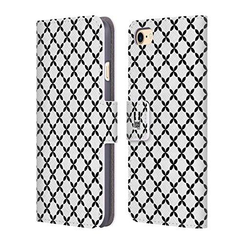 Head Case Designs Neige Motifs En Blanc Et Noir Étui Coque De Livre En Cuir Pour Apple iPhone 5c X Marks