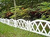 Worth Garden Lot de 4éléments de clôture en plastique blanc avec piquets...