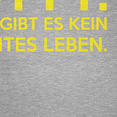 TEXLAB - Kein intelligentes Leben - Damen T-Shirt Grau Meliert