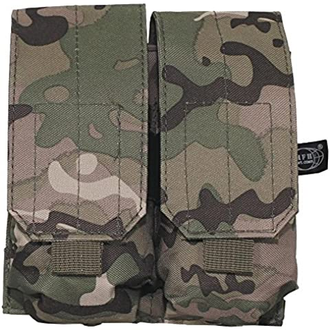MFH DOUBLE MAG MOLLE POUCH - M4 M16 MAGAZINE POUCH - OPERATION CAMO - MULTICAM