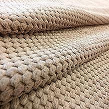 Calidad Nueva Sand Beige Pana Entrelazado De Topos Waffle textura Grado de la tapicería ideal para uso interior, sofás sillas cortinas