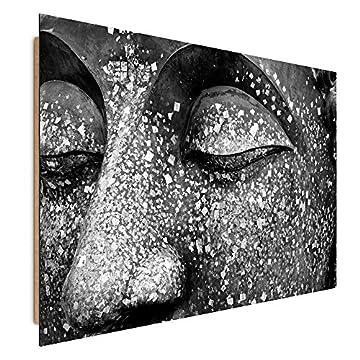 Feeby Frames, Cuadro de pared, Cuadro decorativo, Cuadro impreso, Cuadro Deco Panel, BUDA 2, BLANCO Y NEGRO 3