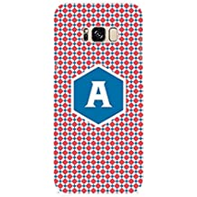 YuBingo Soft Silicone Designer Printed Mobile Back Case Cover for Samsung Galaxy S8 Plus | Amazing Letter A (Stylish Colourful Check Pattern Printed on Plastic) | UV Printed | Waterproof | Shockproof | Slim | Light