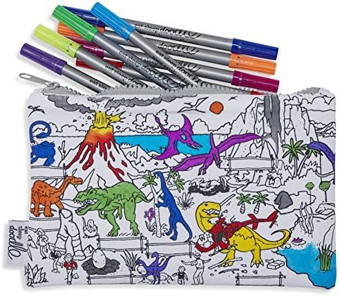 Trousse Coton dessin Dinosaure Dinosaure Dinosaure - Colorier et Apprendre - 10 stylos lavables inclus B06XC1C1M5   Finement Traité  191436