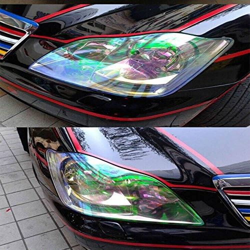 HOHO Abmessungen 30x 100cm Auto Chameleon Lampe Film Film Farbe ändern Licht Scheinwerfer Folie Automotive Tint Rücklicht Vinyl Film Tabelle Auto Dekoration Aufkleber