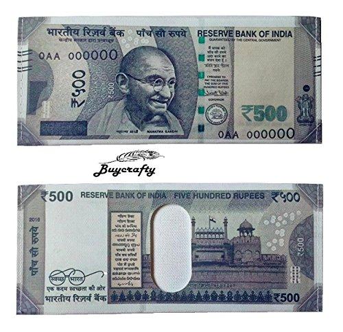 buycrafty indischen New 500Rupie Note Währung Falttür Leinwand Wallet New Design (Indische Währung)