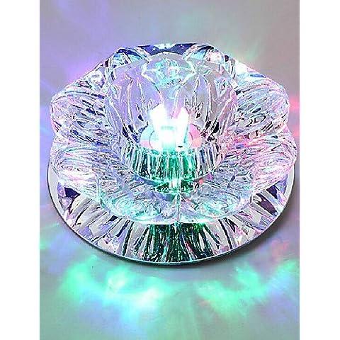 10*6CM Lámparas de techo de cristal Colgante Lámpara de luces LED 3W Spotlight Lámpara creativa de la luz del tubo colorido , la luz de cúpula de color blanco- 90V-240V