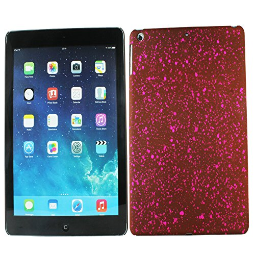 Heartly Night Sky Glitter Star 3D Printed Design Retro Color Armor Hard Bumper Back Case Cover For Apple iPad Air Tablet (iPad 5) - Burgundy Pink  available at amazon for Rs.129
