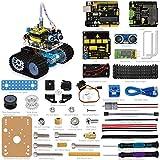 ViewTek KS0071 - Mini Tank Roboter Arduino Kit - Ultraschall Hindernisvermeidung - Uno R3 Card - Bluetooth Fernbedienung über Smartphone - 5 Lektionen / Projekte mit Bildern und Video Montage