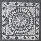 Marbre Rosace Mosaique en carrelage 67x67 cm x 8 mm rose des vents Bianco Carrara 057...