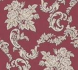 Papier Tapete A.S. Création Belle Epoque Beige Metallic Rot 338674 Maße: 10,05 x 0,53 m