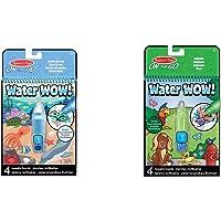 Melissa & Doug Wow da viaggio Quaderno per attività riutilizzabile con disegni che si rivelano con l'acqua-In fondo al…