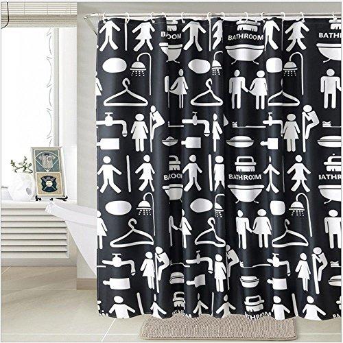 JYJSYM Dusche Vorhang, Badewanne duschvorhang, polyestermaterial, duschvorhang, Verdickung, Wasserdicht, плесени Bäder, Hotel des Bains duschvorhang, Vorhang 180x180cm,Ein,180x180cm
