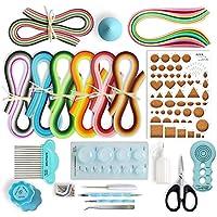 Juya Papier Quilling-Kits mit 960 Strips und 13 Werkzeuge Blau-Werkzeuge, Papierbreite 5mm