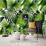 Lzhenjiang murale Moderno E Minimalista Pulito Pianta Della Foresta Pluviale Banana Leaf Garden Wall Art Parete 3D Carta Da Parati Di Carta Per Il Sud-Est Asiatico Di Stile.