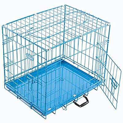 Easipet Foldable Blue Metal Dog Puppy Cage Crate in 4 Sizes from Easipet