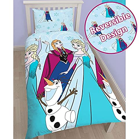 Disney La Reine des neiges lumières Unique/US Twin Housse de couette Set – conception rotative