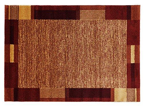CONTESTO MODERNO moderner Designer Teppich in kupfer, Größe: 65x130 cm -