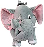 SARIKA TOYS Mother Elephant with Two Babies - 40 cm (Grey)