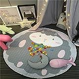 1.5m Krabbeldecke, Rutschfest Baby Spiel Aufräumsack Kinder Groß Spielzeug Aufbewahrungstasche Runden Teppich (Typ 2)