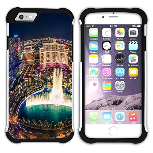 Graphic4You Las Vegas USA United States of America Postkarte Aussicht Hart + Weiche Kratzfeste Hülle Case Schale Tasche Schutzhülle für Apple iPhone 6 Plus / 6S Plus Design #9