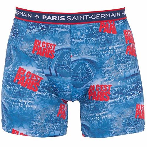 Boxer PSG-Collezione ufficiale Paris Saint Germain-Dimensione Bambino Ragazzo, blu (blu), 12 ans