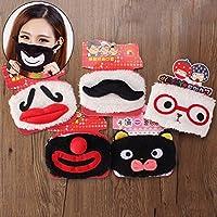 Bazaar Cute Funny Mustache Red Nose Plüsch Mouth Atemmaske kaltem Staub Reinigen Winddicht Winter Warme Baumwolle Clown