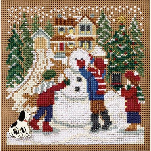 Unbekannt Mill Hill Snow Day Winter Tasten und Perlen Kreuzstich-Set, 5von 12,7cm