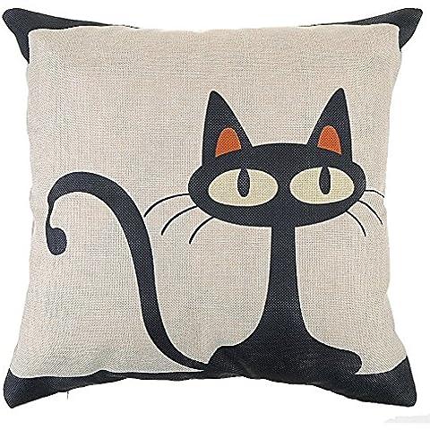 fundas de cojines algodn de lino decorativos sof gato funda de almohada
