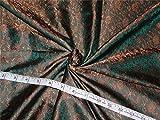 Seide Brokat Stoff grün x Golden Braun Farbe 111,8cm