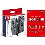 Switch Paire de manettes Joy-Con gauche/droite : gris + Switch Online 12 Mois Famille [Download Code]