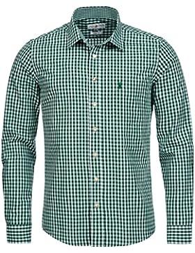 Almsach Trachtenhemd Slim Fit in Grün