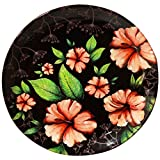 #5: KOLOROBIA FLORAL PASSION HIBISCUS TROPICAL FLOWER HOME DÉCOR WALL PLATE 7.5