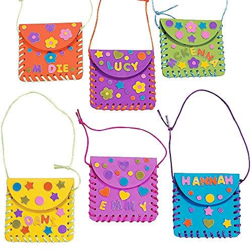 Ideen Kostüm Mädchen Diy (6 x Bastelset Geldbörse Tasche Portemonnaie Kindergeburtstag Basteln Kindergarten Mitgebsel Beschäftigung Fädeln)
