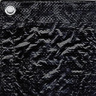 Bauzaunplane 1,76m x 3,41m schwarz/weiß Standard + Schwerentflammbar B1 (Standard, schwarz)
