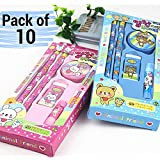 TIED RIBBONS Kid's Birthday Party Return Gift Sets For Girls Boys Kids Stationary Set(Set Of 10)