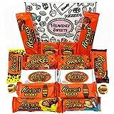 Reeses Präsentkorb aus den USA | Peanut Butter und Schokolade | Peanut Butter Cups, Pieces, Sticks, Nut Bars, Miniatures | 18 Produkte in einer schönen retro Geschenkschachtel verpackt