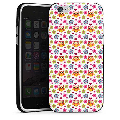 Apple iPhone 5 Housse étui coque protection Hibous couleurs Motif Housse en silicone noir / blanc